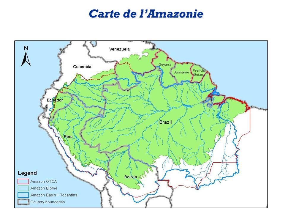 Carte de l'Amazonie