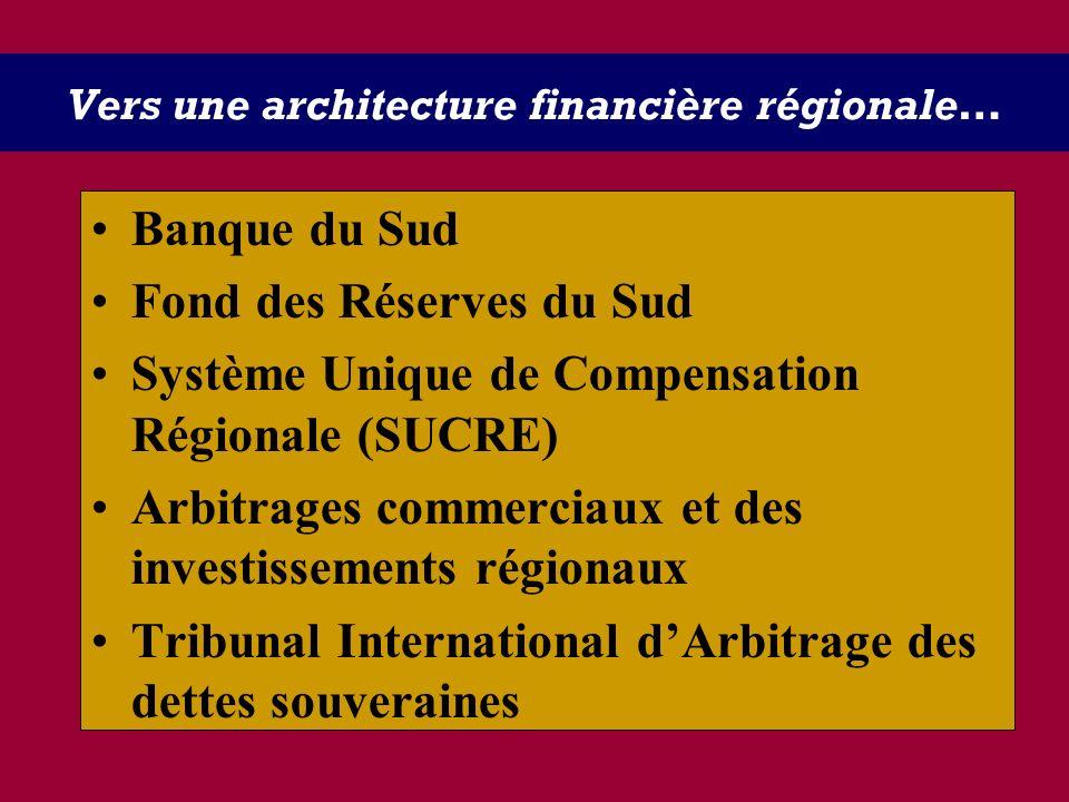 Vers une architecture financière régionale…