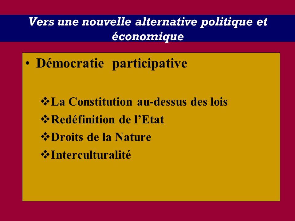 Vers une nouvelle alternative politique et économique