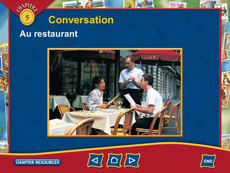 Conversation Au restaurant