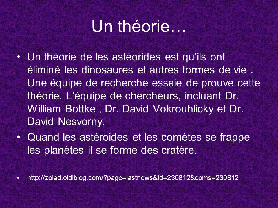 Un théorie…