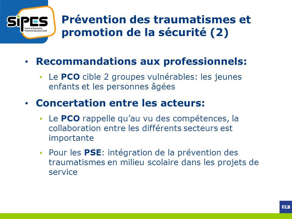 Prévention des traumatismes et promotion de la sécurité (2)