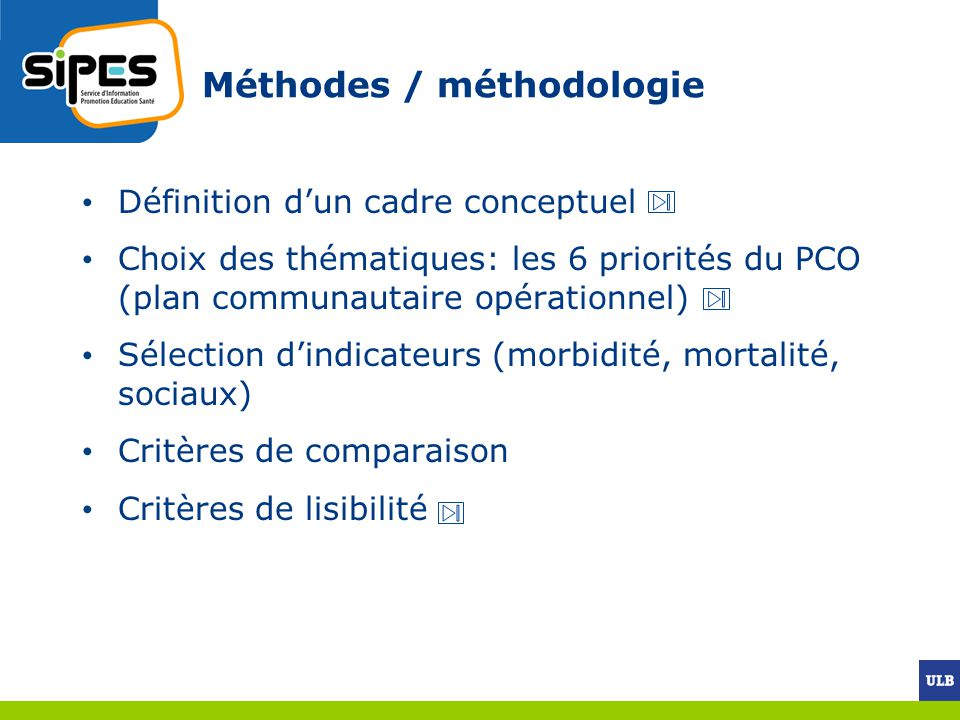 Méthodes / méthodologie