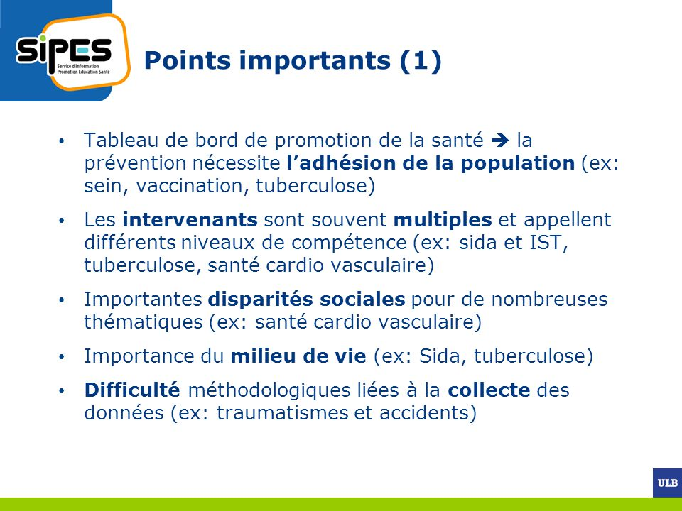 Points importants (1)