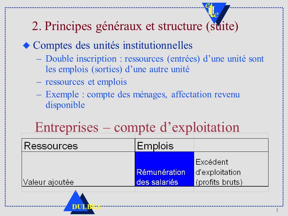 2. Principes généraux et structure (suite)