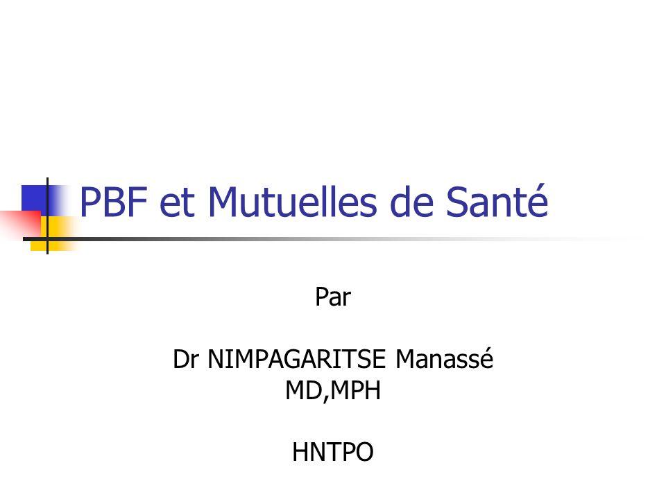 PBF et Mutuelles de Santé