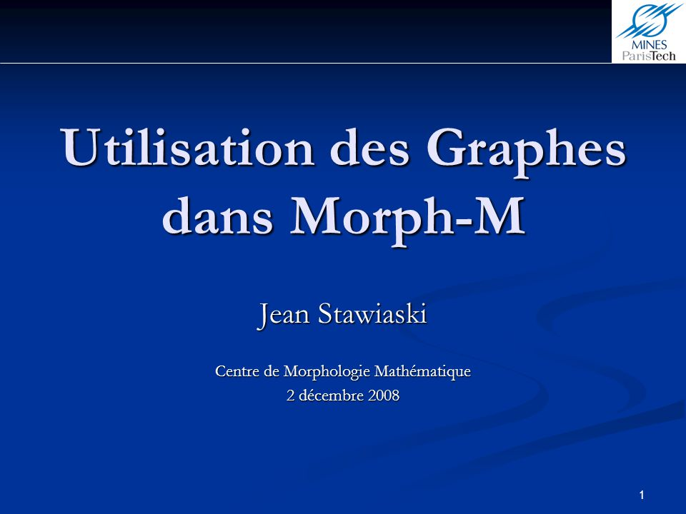 Utilisation des Graphes dans Morph-M