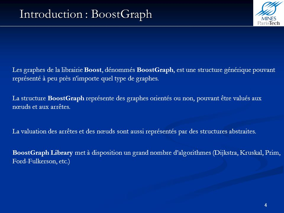 Introduction : BoostGraph