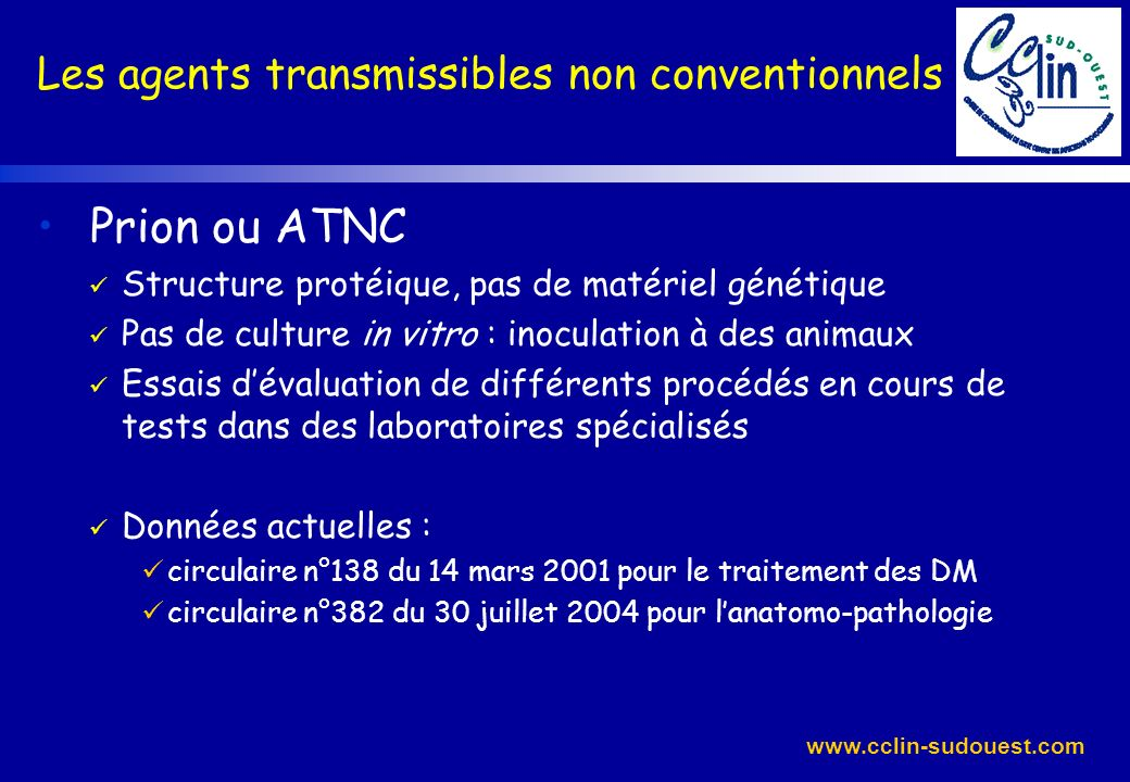 Prion ou ATNC Les agents transmissibles non conventionnels