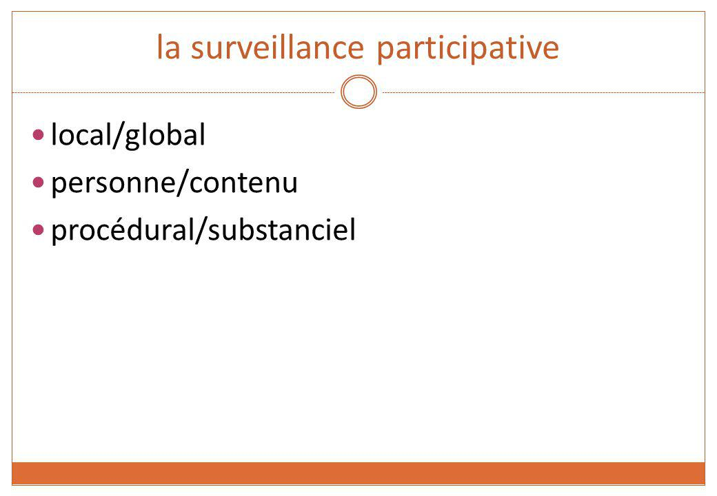 la surveillance participative