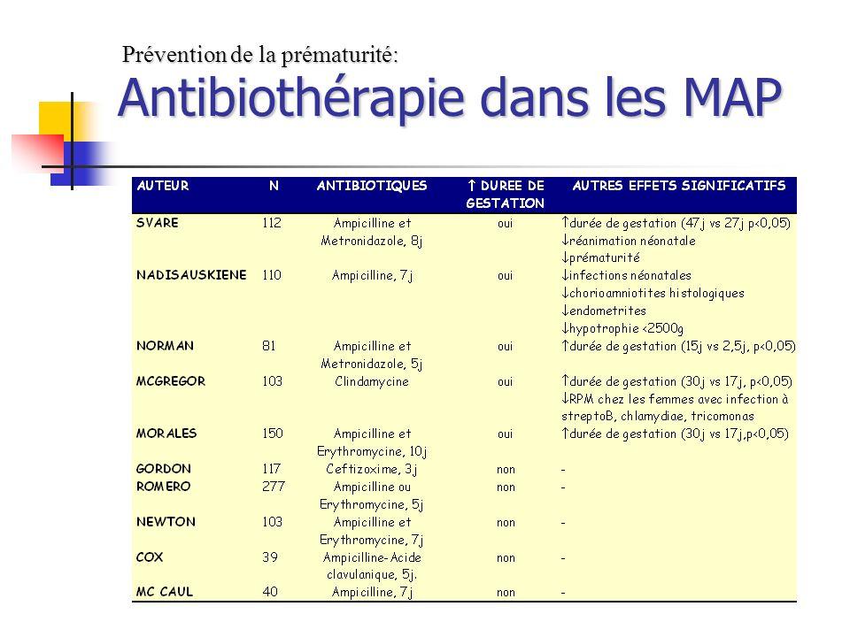 Antibiothérapie dans les MAP