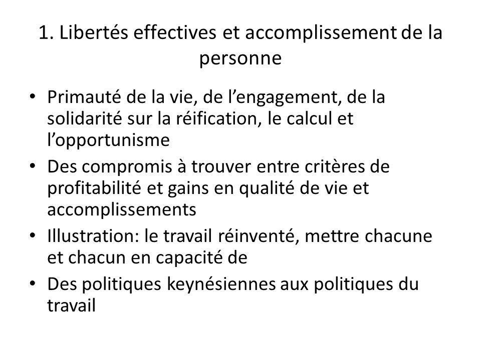 1. Libertés effectives et accomplissement de la personne