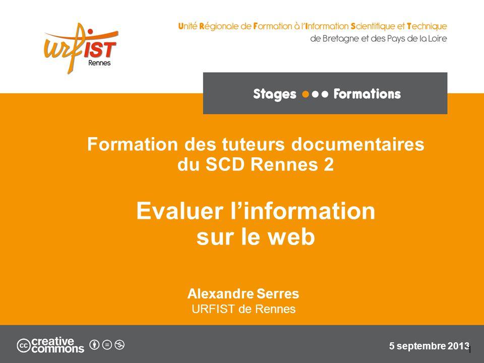 Evaluer l'information sur le web
