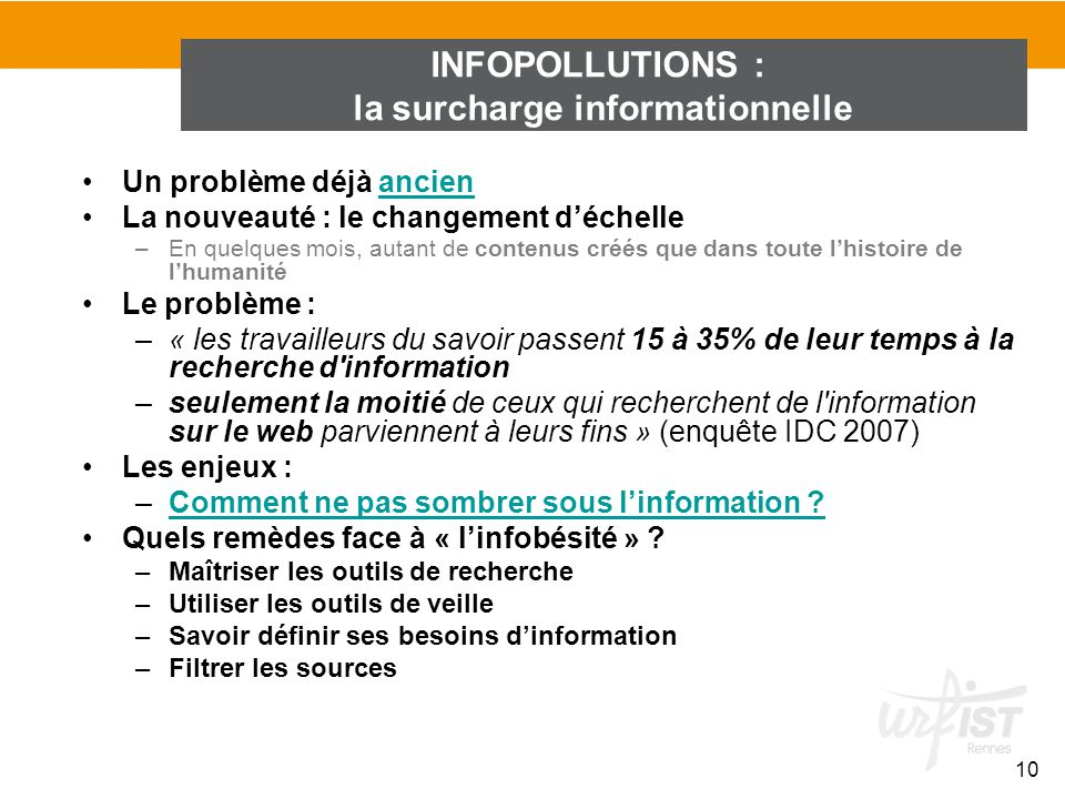 INFOPOLLUTIONS : la surcharge informationnelle