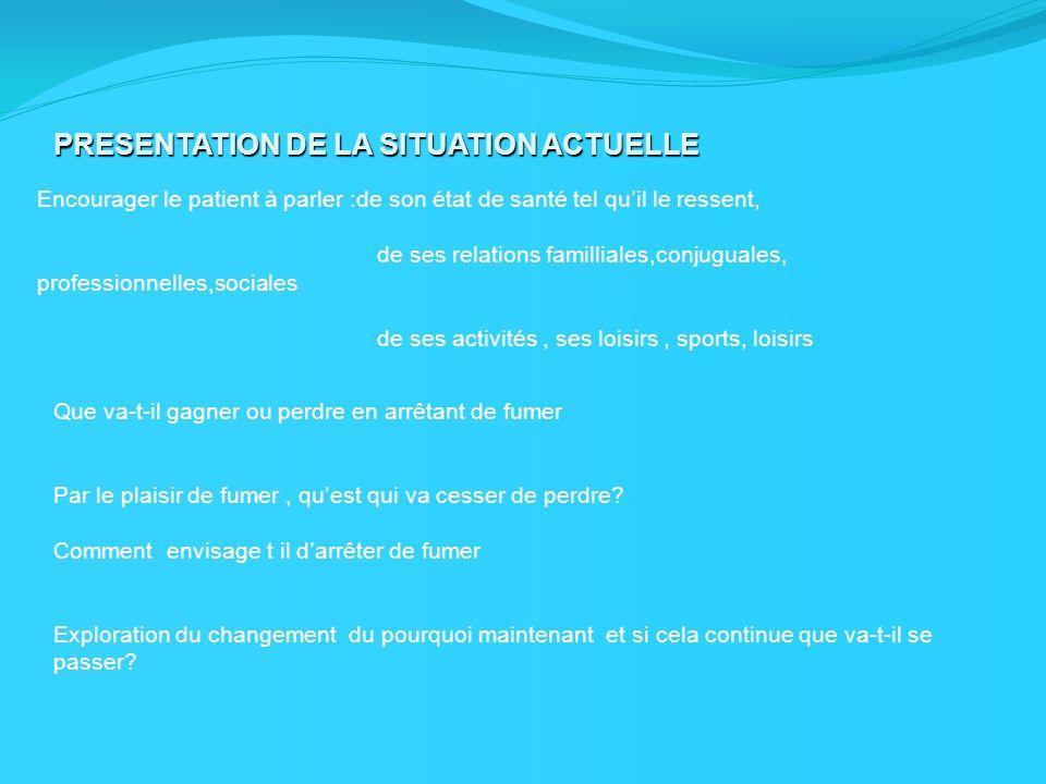 PRESENTATION DE LA SITUATION ACTUELLE