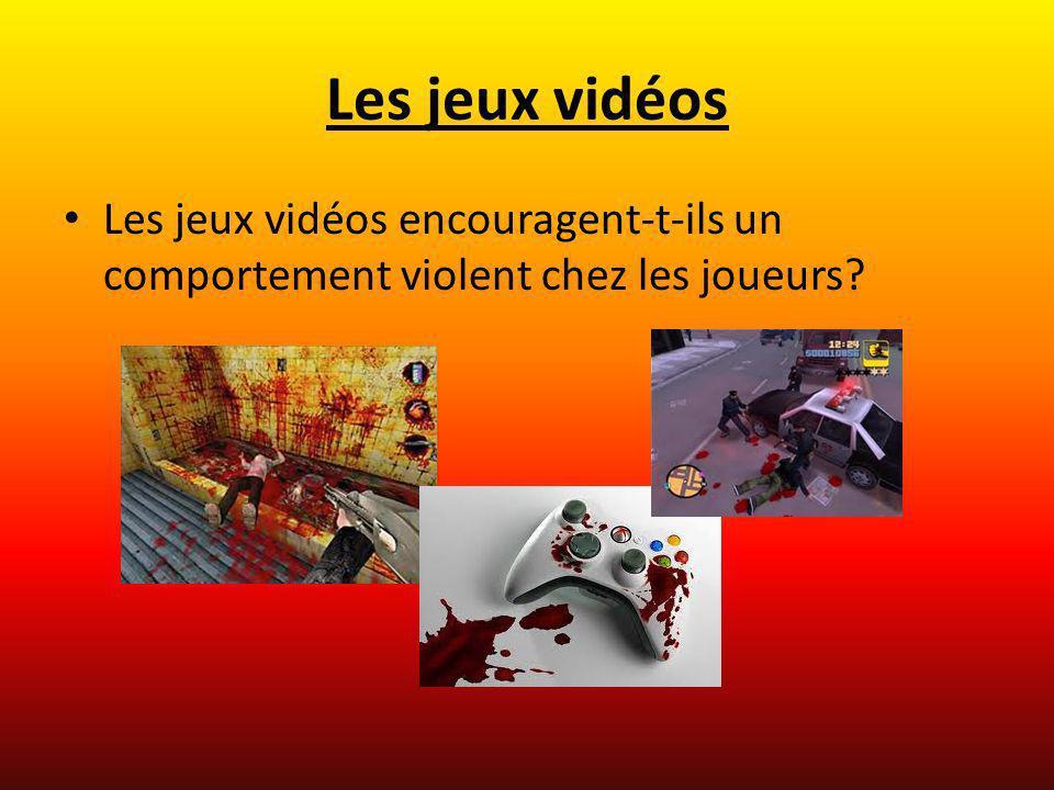 Les jeux vidéos Les jeux vidéos encouragent-t-ils un comportement violent chez les joueurs