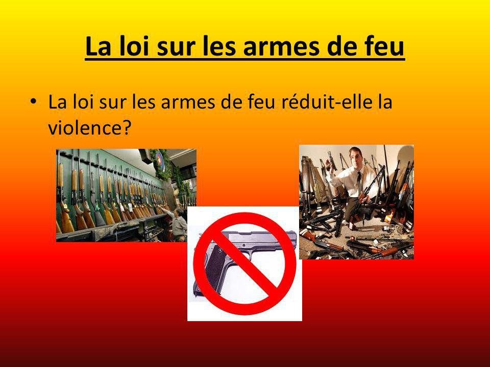 La loi sur les armes de feu
