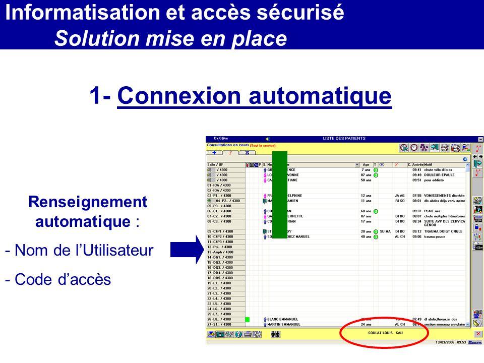1- Connexion automatique