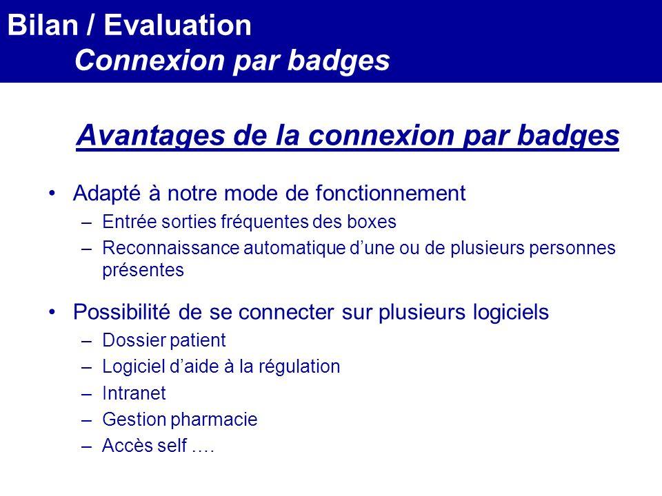 Avantages de la connexion par badges