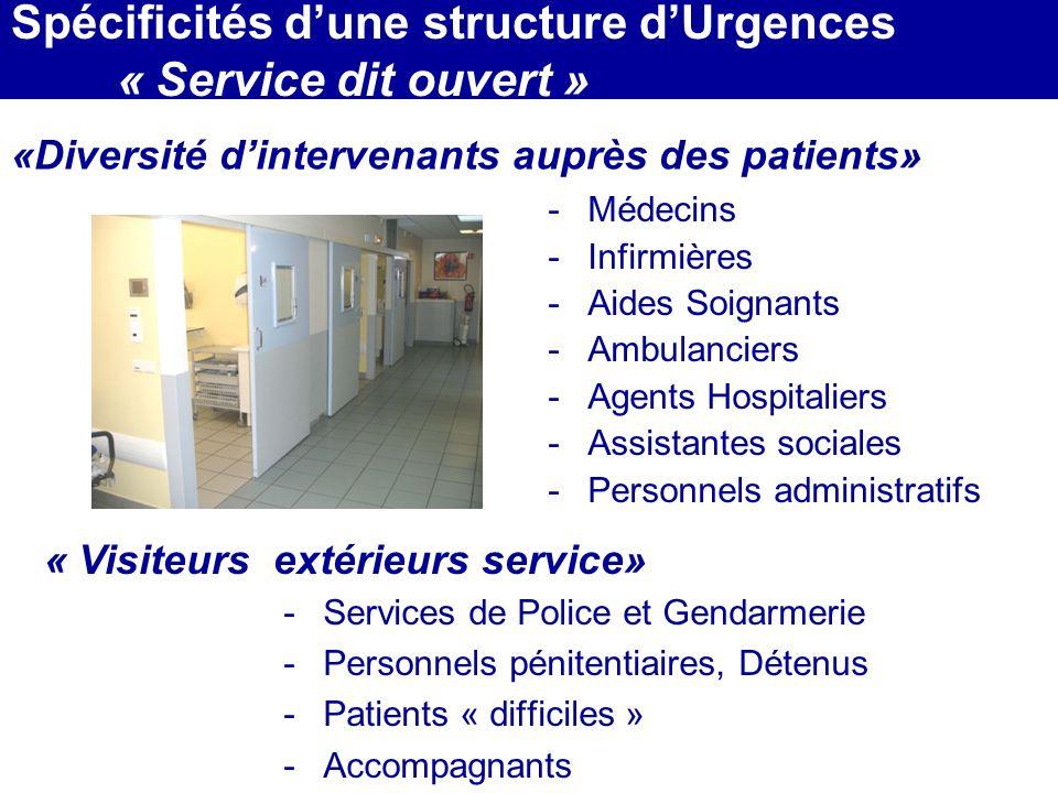 Spécificités d'une structure d'Urgences « Service dit ouvert »