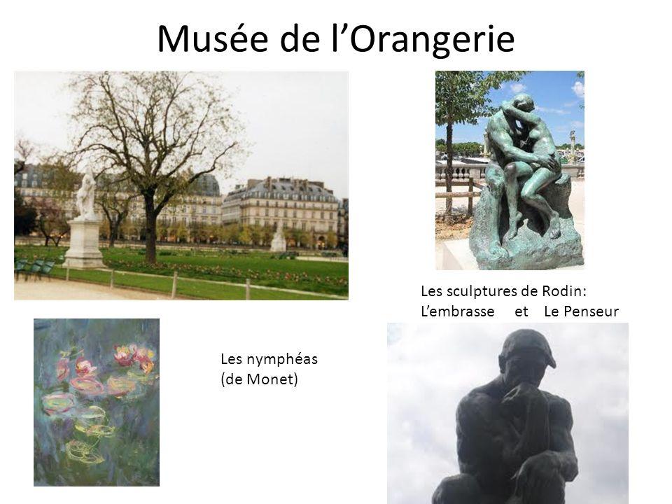 Musée de l'Orangerie Les sculptures de Rodin: L'embrasse et Le Penseur