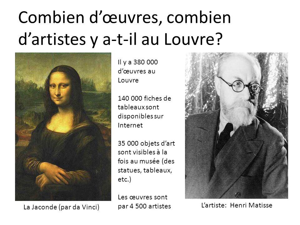 Combien d'œuvres, combien d'artistes y a-t-il au Louvre
