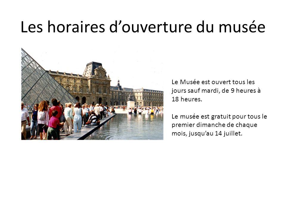Les horaires d'ouverture du musée