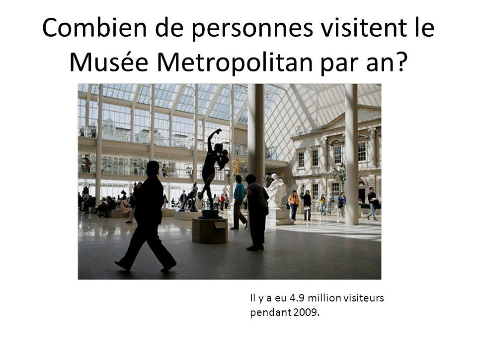 Combien de personnes visitent le Musée Metropolitan par an