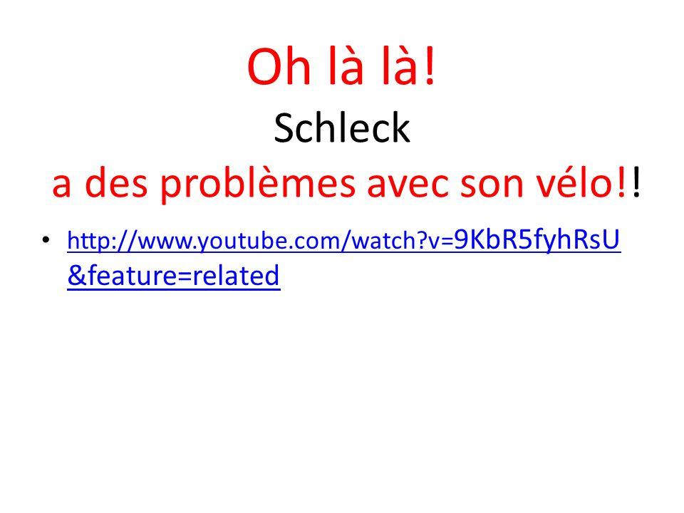 Oh là là! Schleck a des problèmes avec son vélo!!