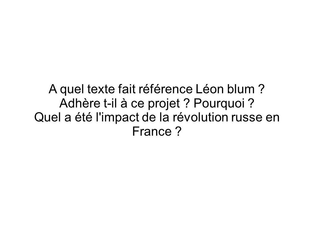 A quel texte fait référence Léon blum