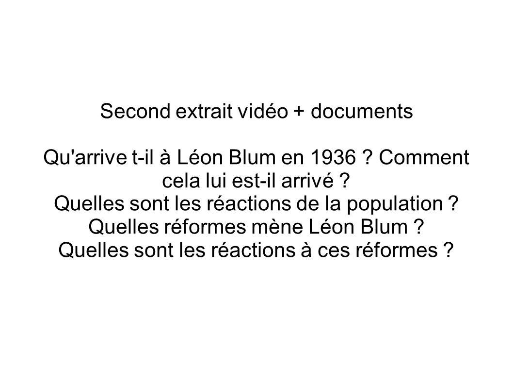 Second extrait vidéo + documents
