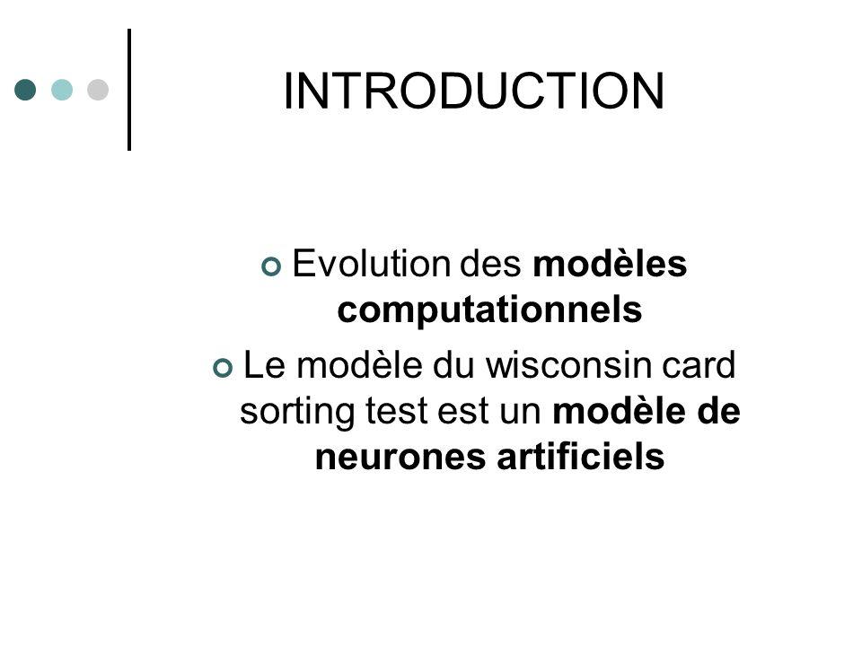 Evolution des modèles computationnels