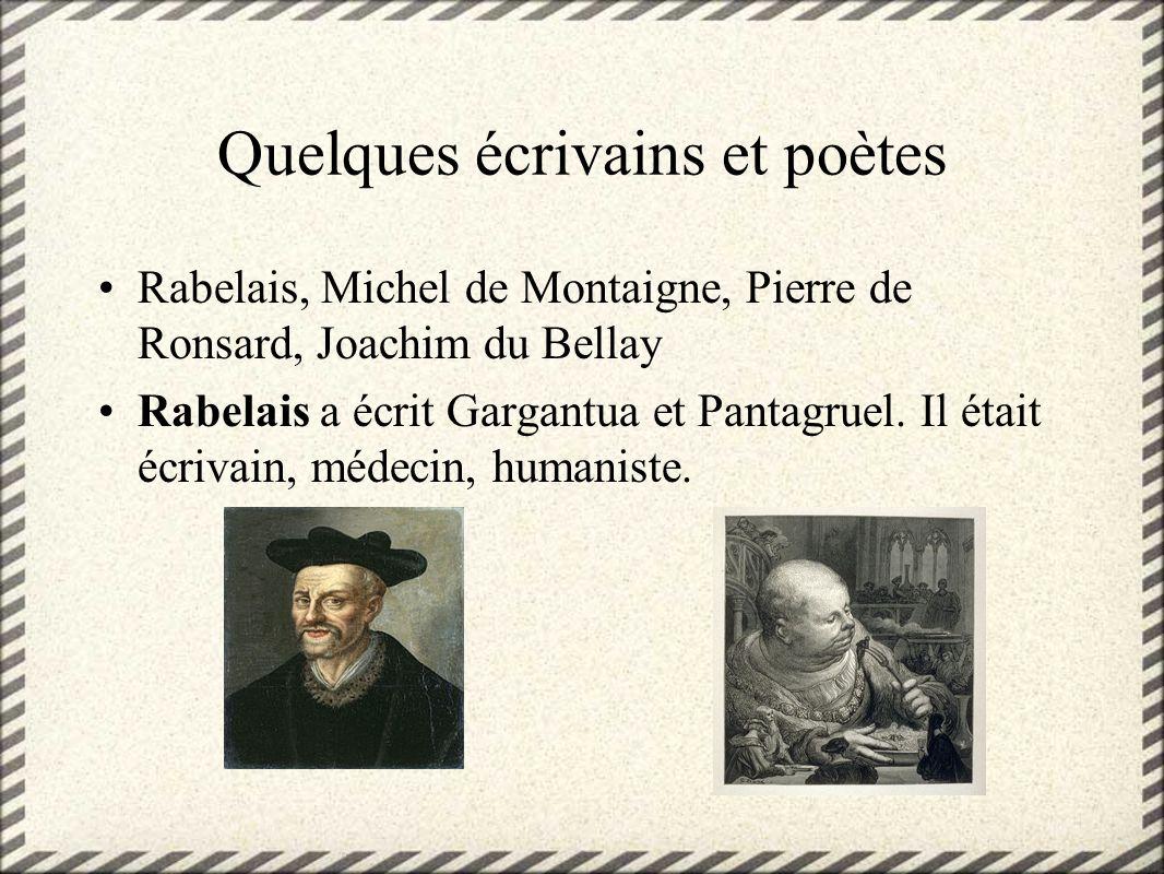 Quelques écrivains et poètes