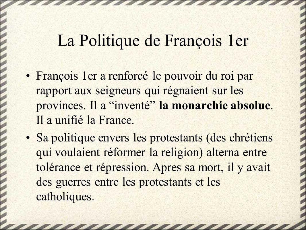 La Politique de François 1er
