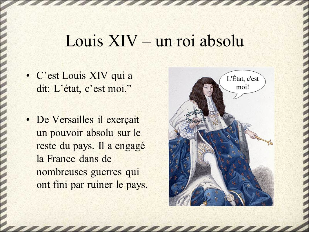 Louis XIV – un roi absolu