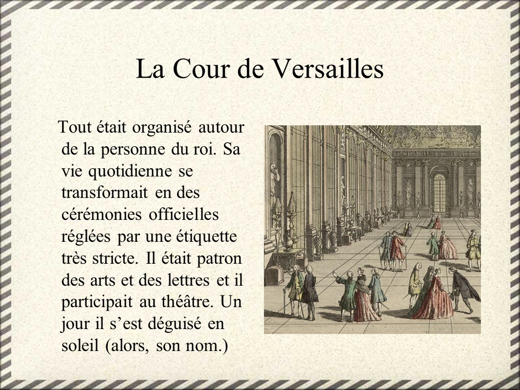 La Cour de Versailles