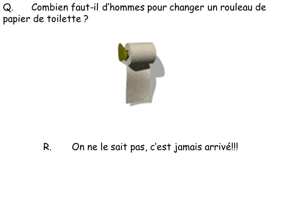 Q. Combien faut-il d'hommes pour changer un rouleau de papier de toilette