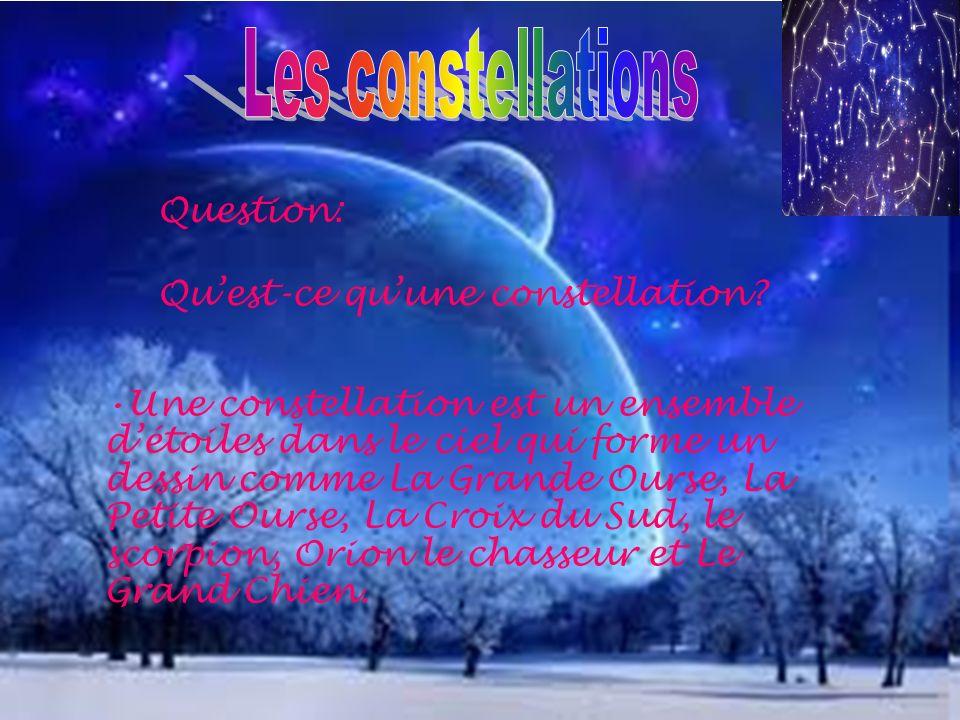 Les constellations Question: Qu'est-ce qu'une constellation