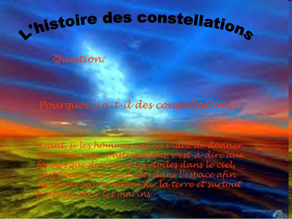 L histoire des constellations