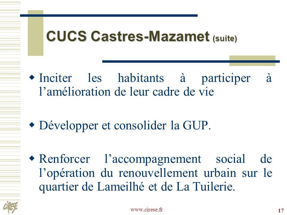 CUCS Castres-Mazamet (suite)