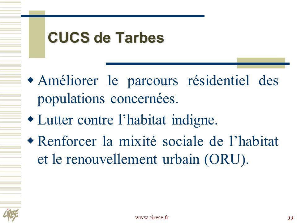 Améliorer le parcours résidentiel des populations concernées.