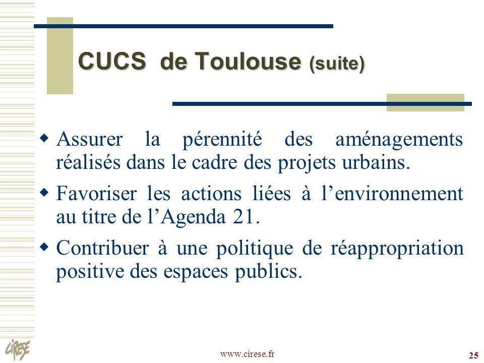 CUCS de Toulouse (suite)
