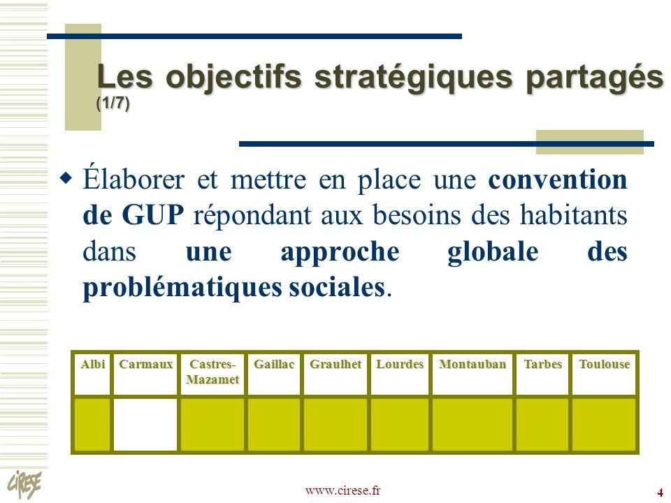 Les objectifs stratégiques partagés (1/7)