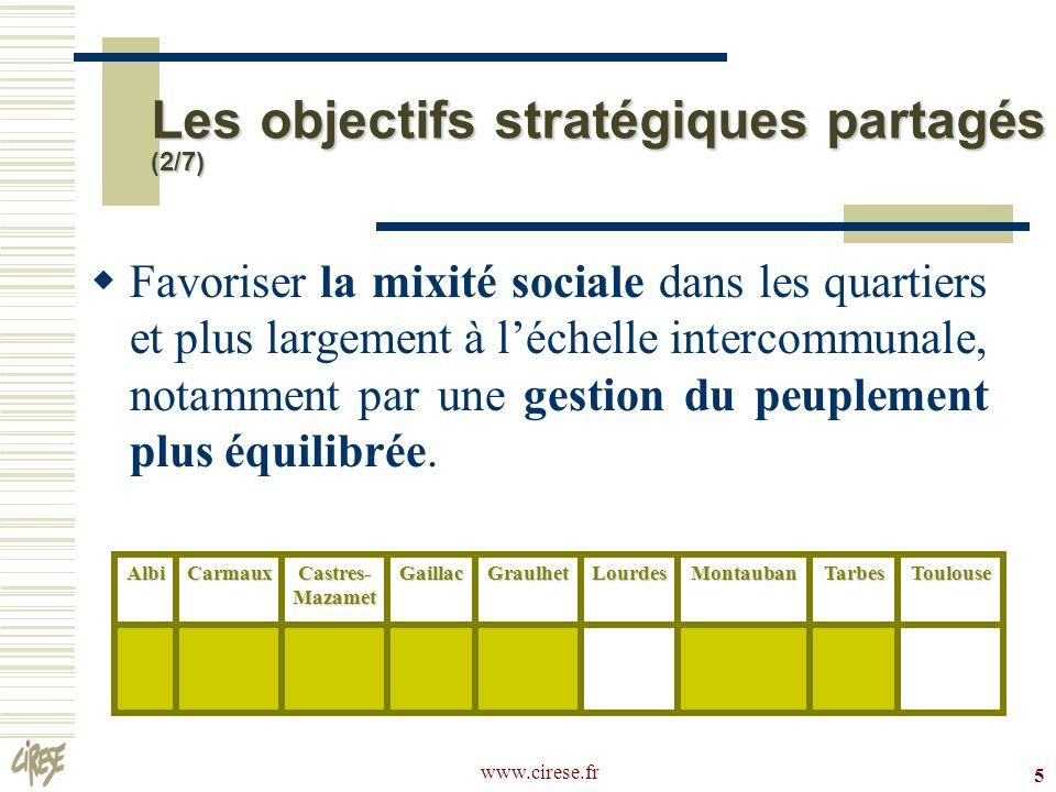 Les objectifs stratégiques partagés (2/7)