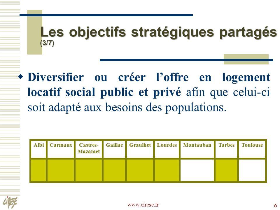 Les objectifs stratégiques partagés (3/7)