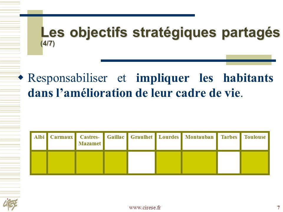 Les objectifs stratégiques partagés (4/7)
