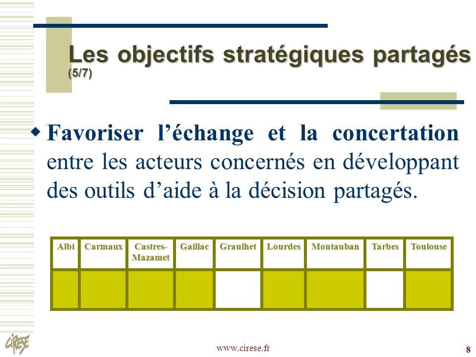 Les objectifs stratégiques partagés (5/7)