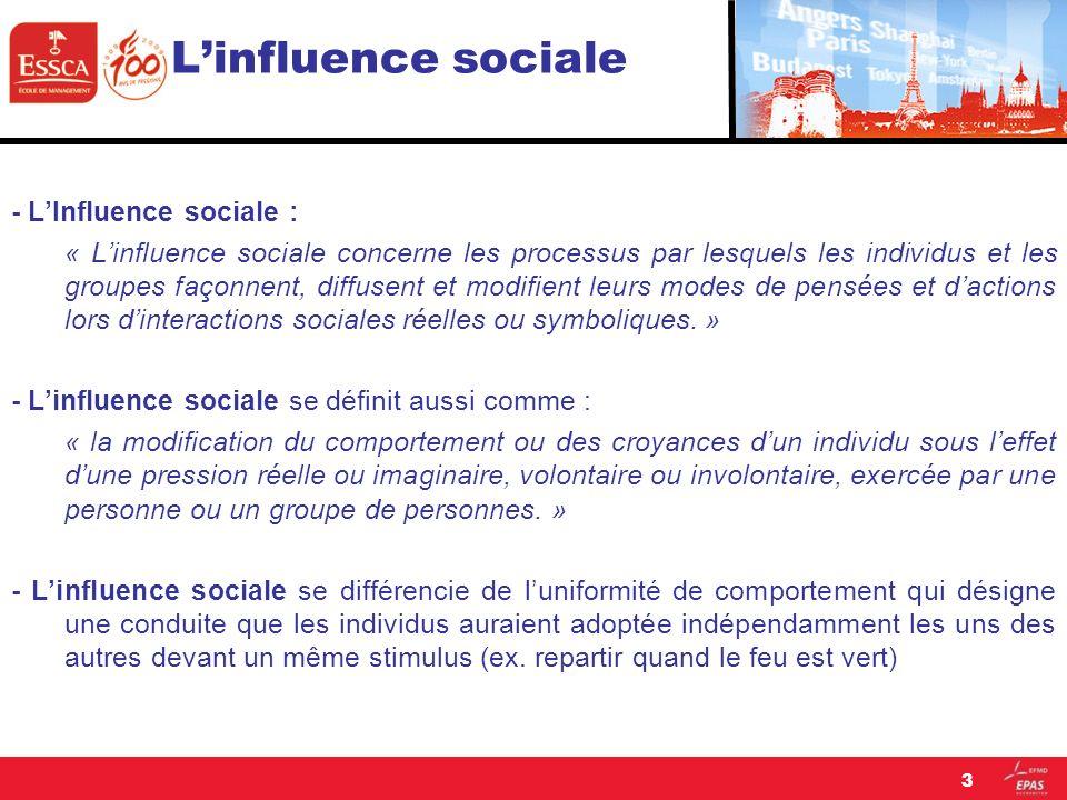 L'influence sociale - L'Influence sociale :