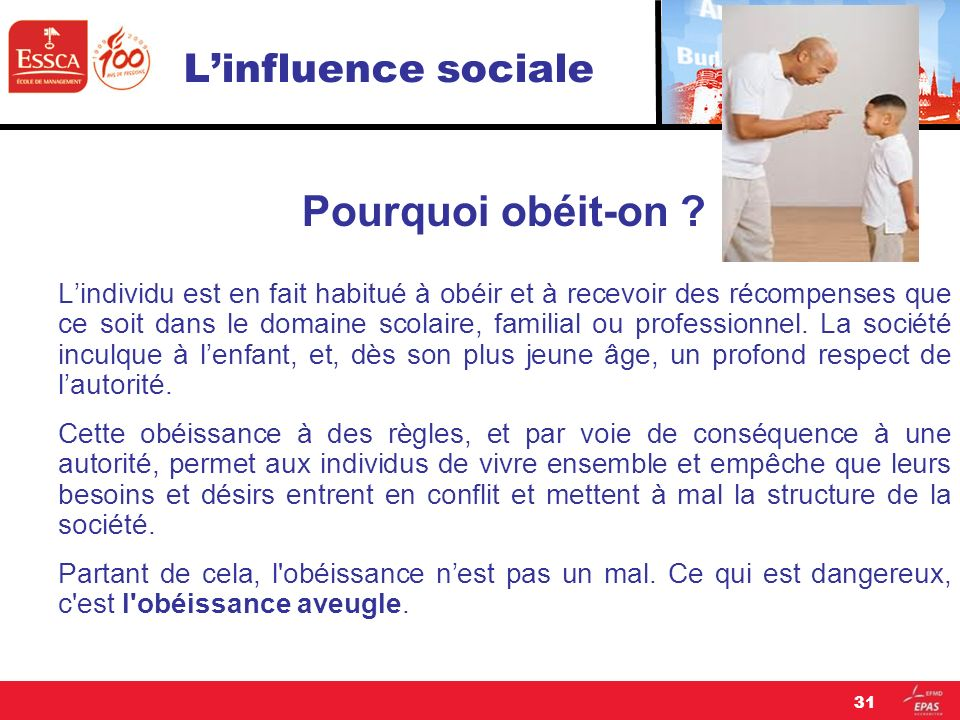 L'influence sociale Pourquoi obéit-on
