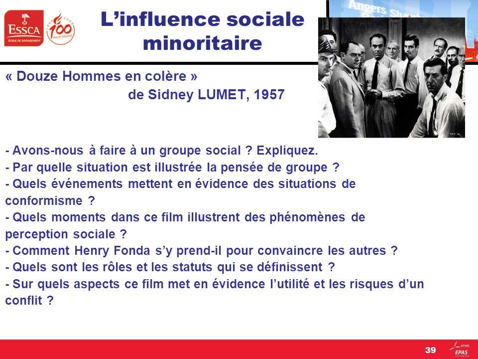 L'influence sociale minoritaire